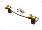 Керамическая вставка — цветы RS115AB/W01